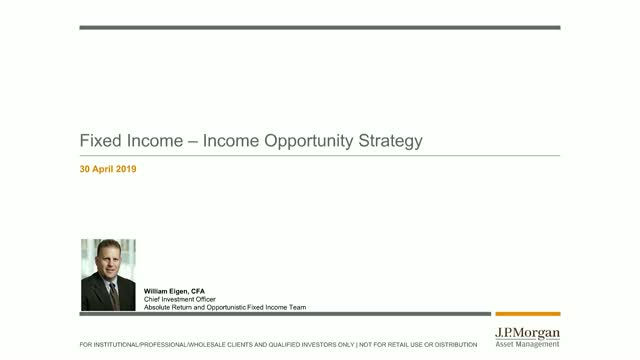 JPMorgan Investment Funds - Income Opportunity Fund