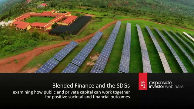 Blended finance and the SDGs
