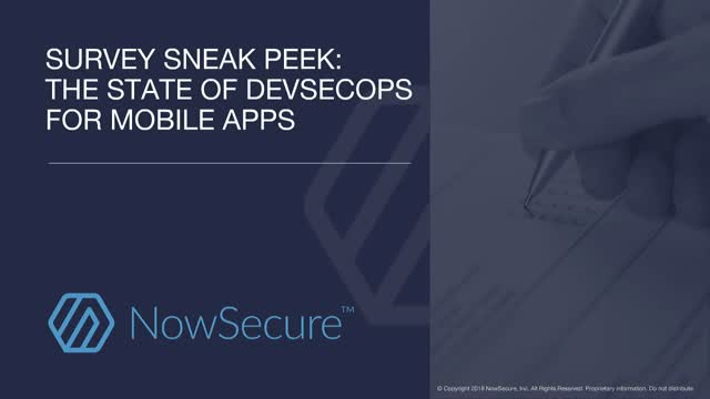 Survey Sneak Peek: The State of DevSecOps for Mobile Apps
