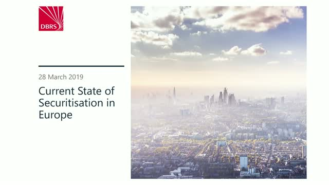 DBRS Webinar: Current State of Securitisation in Europe