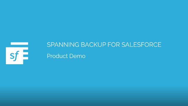 Spanning Backup for Salesforce Demo