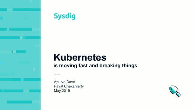 Kubernetes is Moving Fast and Breaking Things