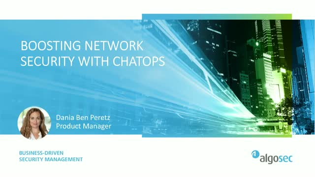 Boosting Network Security with ChatOps