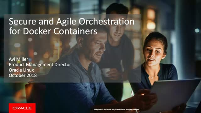 Secure and Agile Orchestration for Docker Containers