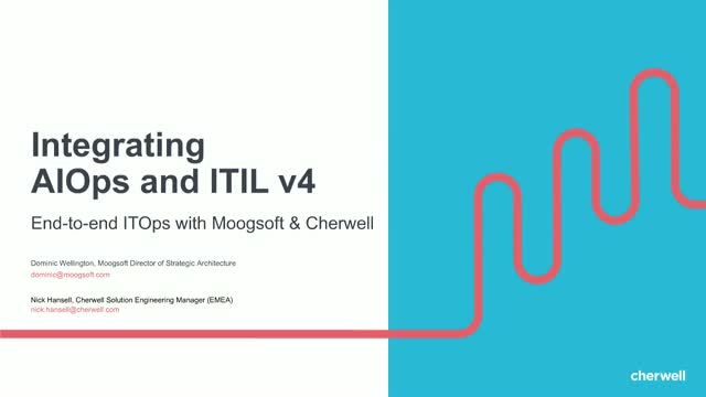 Integrating AIOps and ITIL 4: End-to-end IT Ops