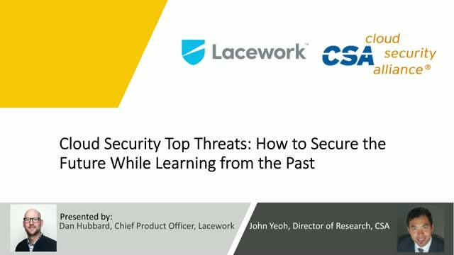 Cloud Security Top Threats:How to Secure the Future While Learning from the Past
