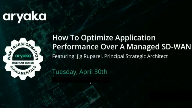How to Optimize Application Performance over a Managed SD-WAN