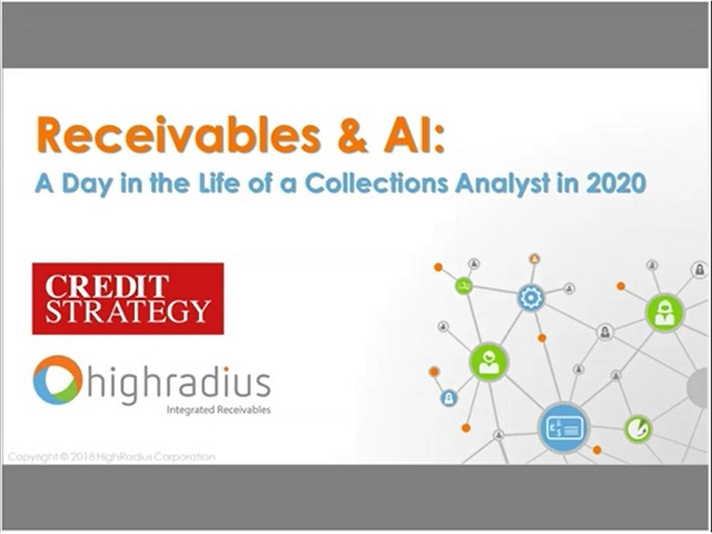 Receivables and AI:  A Day in The Life of A Collections Analyst in 2020