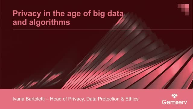 Privacy in the age of big data and algorithms