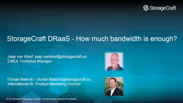 Disaster Recovery as a Service: How Much Bandwidth is Enough?
