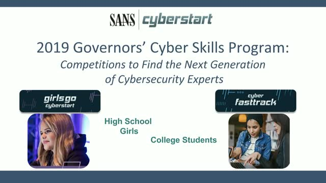 SANS Extends High School Girls and College Student Cyber Training Programs to 27