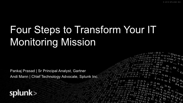 Four Steps to Transform Your IT Monitoring Mission
