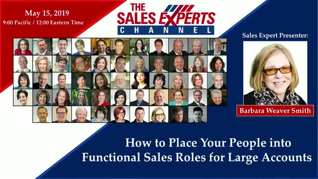 How to Place Your People into Functional Sales Roles for Large Accounts