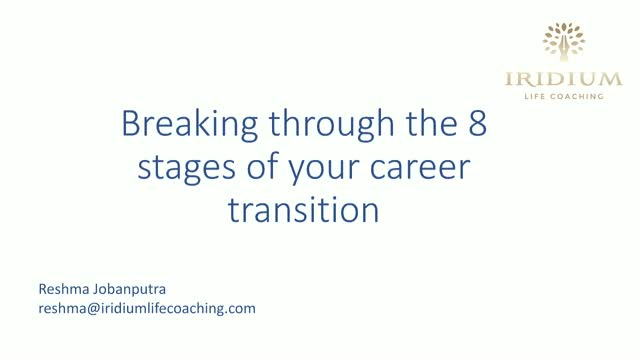 Breaking through the 8 stages of your career transition