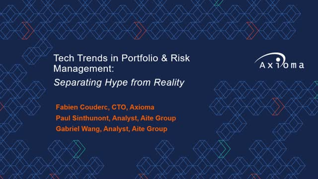 Tech Trends in Portfolio & Risk Management: Separating Hype from Reality