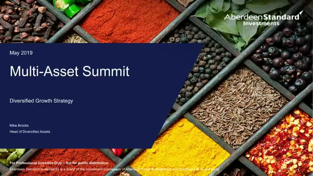 Multi Asset Summit: Flexible asset allocation within the Diversified Growth Fund