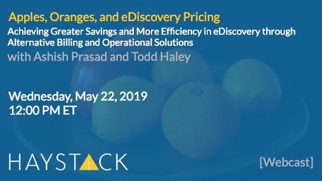 Apple, Oranges, and eDiscovery Pricing