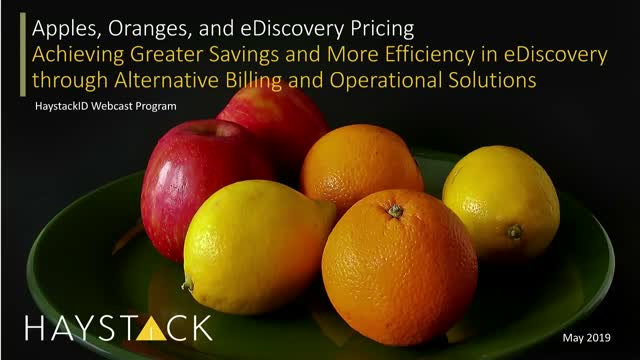 Apples, Oranges, and eDiscovery Pricing