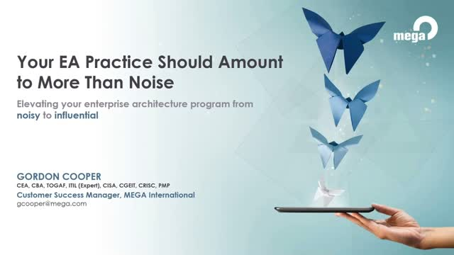 Your Enterprise Architecture practice should amount to more than noise
