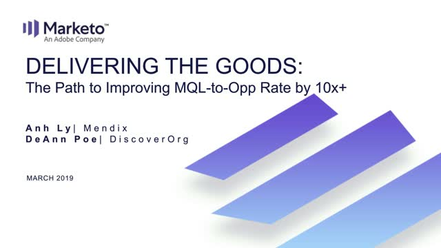 Delivering the Goods: The Path to Improving MQL-to-Opp Rate by 10x+
