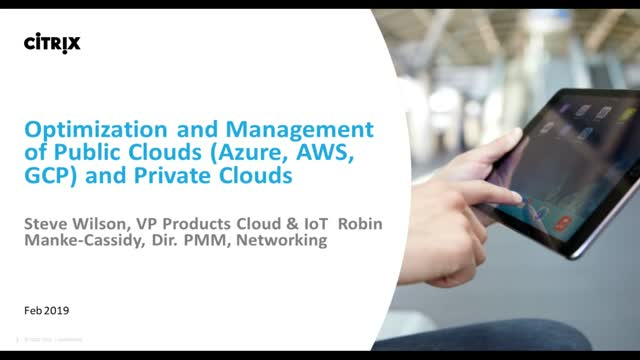 Optimization and Management of AWS, Azure, Google and Private Cloud Environments