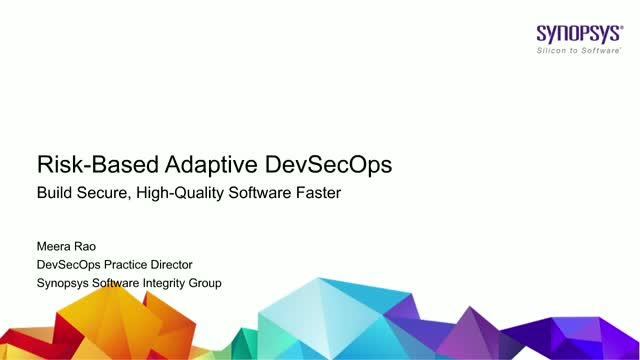 Risk-Based Adaptive DevSecOps