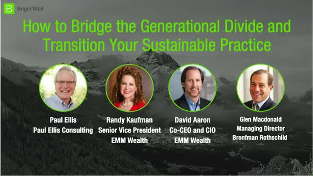 How to Bridge the Generational Divide and Transition Your Sustainable Practice