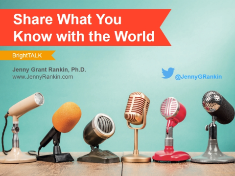 Share What You Know with the World