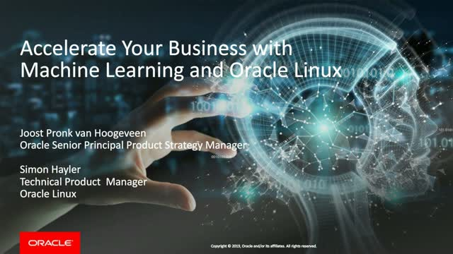 Accelerate Your Business with Machine Learning and Oracle Linux
