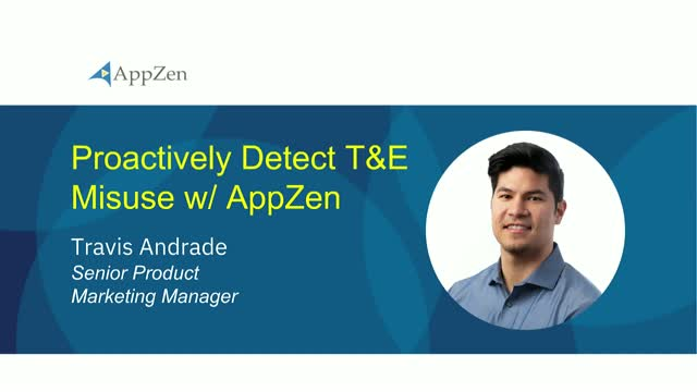 Proactively Detect T&E Misuse with AppZen