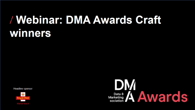 Webinar: DMA Awards - craft winners