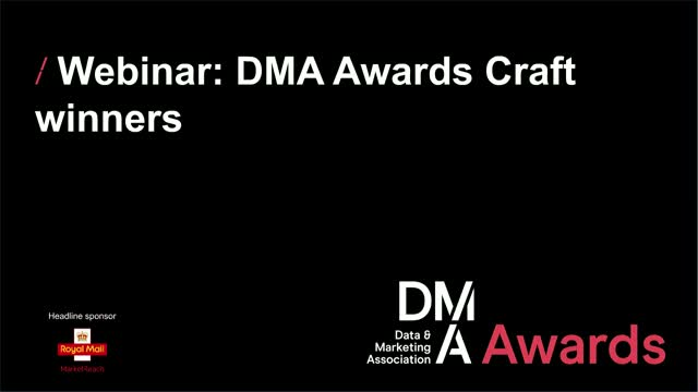 Webinar: DMA Awards Craft winners