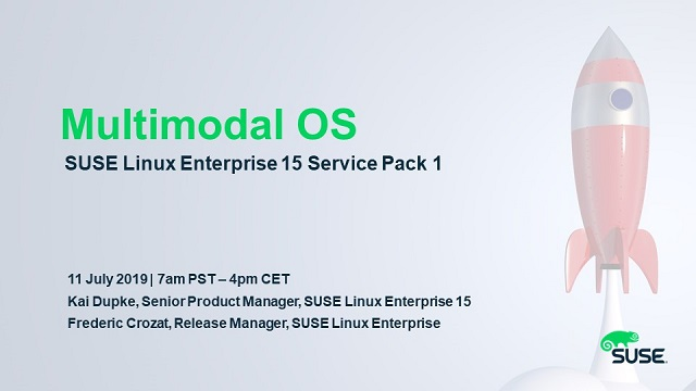 Multimodal OS – SUSE Linux Enterprise 15 Service Pack 1