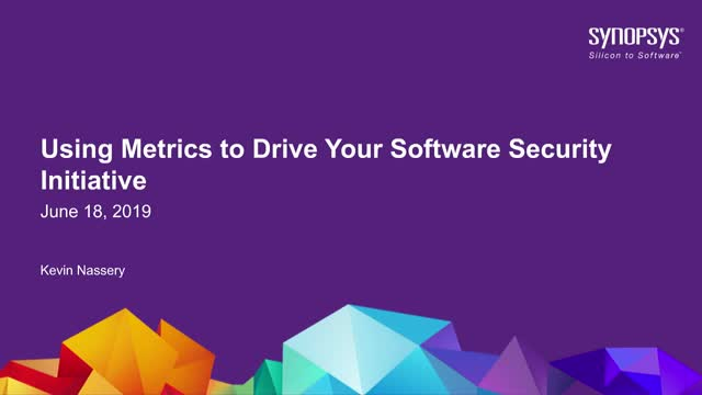 Using Metrics to Drive Your Software Security Initiative