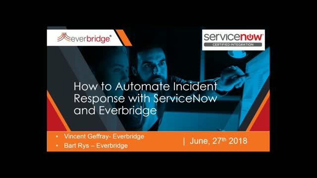How to Automate Incident Response with ServiceNow and Everbridge