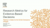 Webinar in Arabic: Research Metrics for Evidence-Based Decisions
