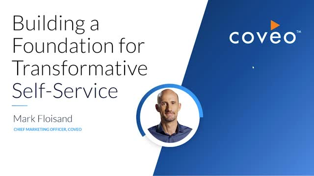 Building a Foundation for Transformation Self-Service