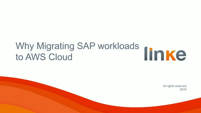 Why Should You Migrate SAP workloads to AWS?