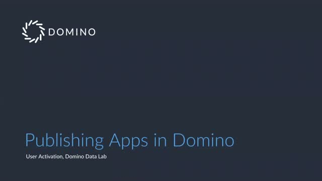 Sharing Your Data Science Work with Domino