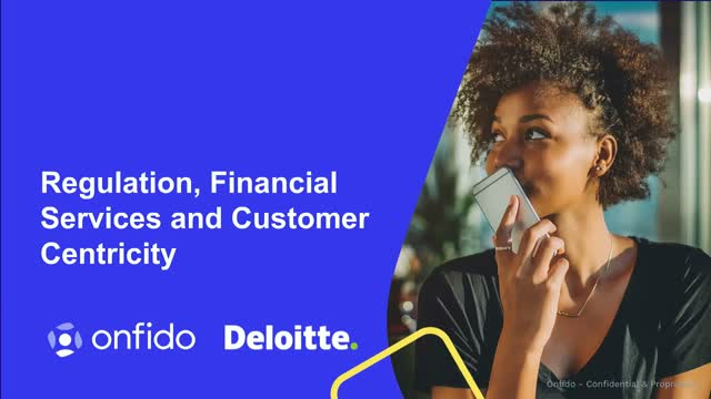Regulation, Financial Services and Customer Centricity