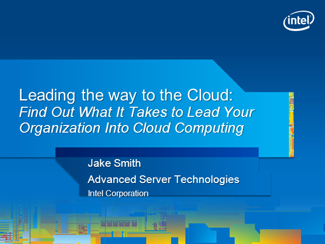 Leading Your Organization into Cloud Computing