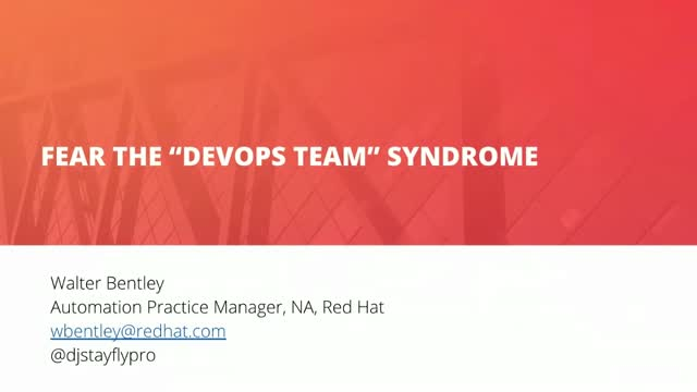 """Fear the """"DevOps team"""" Syndrome"""