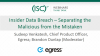 Insider Data Breach – Separating the Malicious from the Mistaken