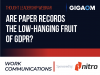 Are Paper Records the Low-hanging Fruit of GDPR?