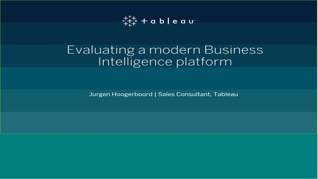 Evaluating a Modern Business Intelligence Platform
