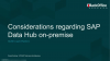 Considerations for SAP Data Hub On-Premise on SUSE CaaSP