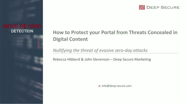 How to Protect your Portal from Threats Concealed in Digital Content