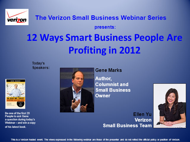 Twelve Ways Smart People Will Grow Profits in 2012