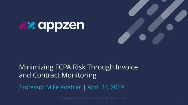 Minimizing FCPA Risk Through Invoice And Contract Monitoring
