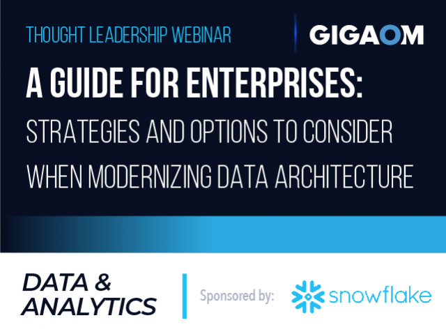 Guide for Enterprises: Strategies and Options to Consider When Modernizing Data